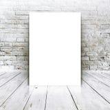 Пустой плакат как шаблон космоса экземпляра для вашего дизайна Стоковое Фото