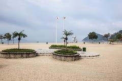 Пустой пляж в Гонконге стоковая фотография rf
