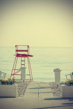 Пустой пляж в годе сбора винограда Стоковые Фотографии RF