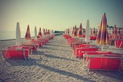 Пустой пляж в годе сбора винограда Стоковое Изображение