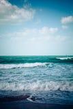 Пустой пляж моря стоковые фотографии rf