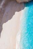 Пустой пляж - над взглядом Стоковые Изображения RF