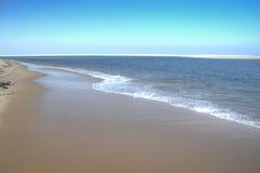 Пустой пляж на острове Bazaruto Стоковое Изображение
