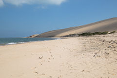 Пустой пляж на острове Bazaruto Стоковые Фотографии RF