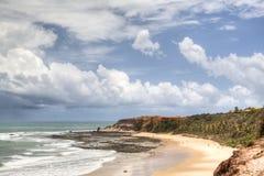 Пустой пляж на Прая de Пипе Стоковые Фотографии RF