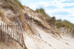Пустой пляж Barneville Carteret, Нормандии, Франции Стоковое Изображение RF