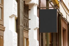 Пустой реальный внешний модель-макет знака компании Стоковые Изображения