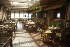 пустой ресторан Стоковое фото RF