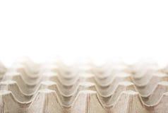 Пустой рециркулируйте бумажный поднос яичка Стоковое Изображение