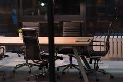 пустой самомоднейший офис Стоковое Изображение