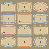 пустой сбор винограда вектора комплекта ярлыков Стоковое Изображение