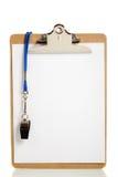 пустой свисток карет clipboard Стоковая Фотография RF