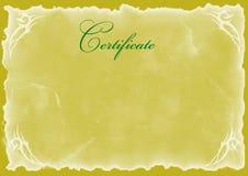 пустой сертификат Стоковые Фото