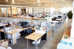 Пустой современный открытый офис плана Стоковое фото RF