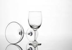 Пустой состав искусства стекла бокала и коктеиля творческий Стоковые Фотографии RF