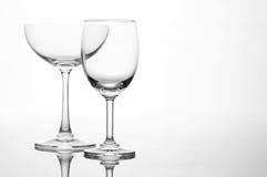 Пустой состав искусства стекла бокала и коктеиля творческий Стоковые Фото