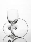 Пустой состав искусства стекла бокала и коктеиля творческий Стоковое Изображение