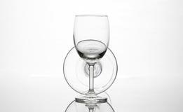 Пустой состав искусства стекла бокала и коктеиля творческий Стоковые Изображения