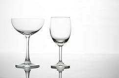 Пустой состав искусства стекла бокала и коктеиля творческий Стоковое Изображение RF