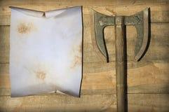Пустой старый пергамент Стоковые Изображения RF