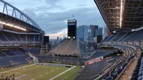 Пустой стадион арены спорт в Сиэтл Стоковая Фотография