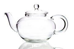 Пустой стеклянный чайник Стоковая Фотография