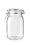 пустой стеклянный опарник стоковая фотография