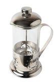 Пустой стеклянный цилиндрический чайник Стоковое фото RF