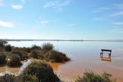 Пустой стенд стоя в середине воды Стоковые Фотографии RF