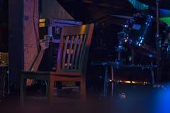 Пустой стул на этапе Стоковое Изображение