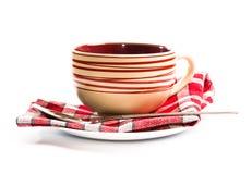 пустой суп плиты Стоковые Фотографии RF