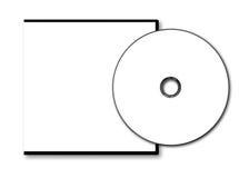 Пустой случай и диск DVD Стоковое Изображение