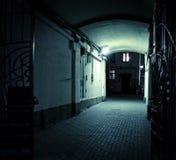 Пустой тоннель в ноче Стоковое Изображение