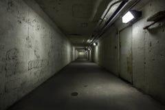 Пустой тоннель на ноче Стоковое Изображение
