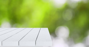 Пустой угол деревянного стола Стоковая Фотография