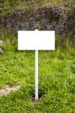 Пустой указатель сельской местности - белизна Стоковая Фотография RF