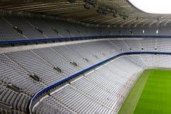 пустой футбольный стадион Стоковое Изображение