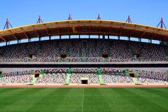пустой футбольный стадион Стоковое Фото
