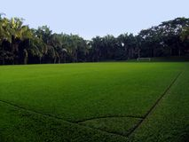 пустой футбол поля Стоковая Фотография RF