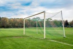 пустой футбол цели Стоковое фото RF