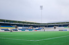 Пустой футбольный стадион Стоковые Фото