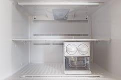 Пустой холодильник замораживателя стоковое фото