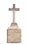 пустой христианский gravestone Стоковая Фотография