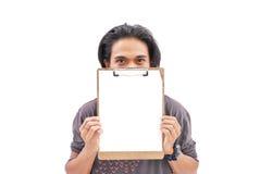 пустой человек clipboard Стоковое Изображение