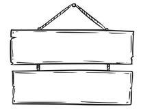 Пустой пустой чертеж доски знака Стоковая Фотография
