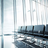 Пустой чистый интерьер авиапорта Стоковое Изображение RF