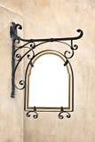 Пустой чугунный старый знак Стоковая Фотография