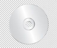 Пустой шаблон КОМПАКТНОГО ДИСКА на прозрачной предпосылке с тенью вектор иллюстрация штока