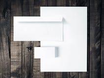 Пустой шаблон канцелярских принадлежностей Стоковое Изображение RF