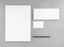 Пустой шаблон канцелярских принадлежностей Стоковые Фотографии RF